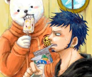 anime, bepo, and trafalgar law image