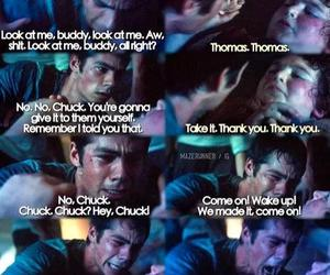 chuck, the maze runner, and thomas image