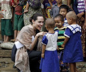 Angelina Jolie and myanmar image