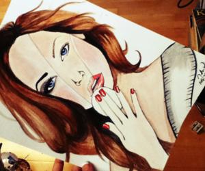 art, drawing, and makeup image