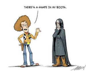 snape, funny, and toy story image