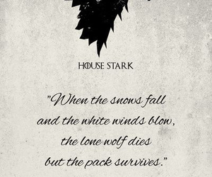 game of thrones, stark, and book image