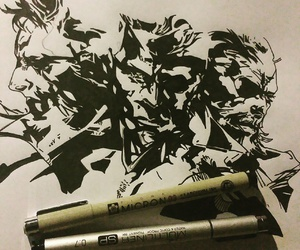 art, inking, and copic image