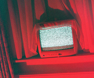 red, aesthetic, and tv image