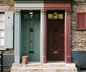 door, house, and photography image