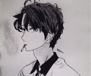 black&white, draw, and manga image