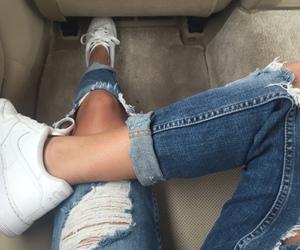 nike, fashion, and jeans image