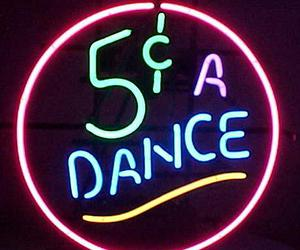 dance, neon, and sign image