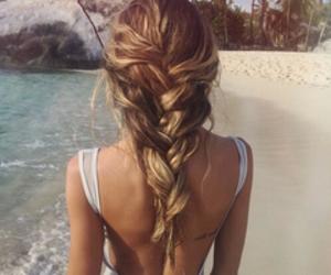 beach, braid, and hairstyle image
