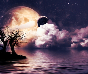 moon, fantasy, and night image