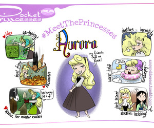 aurora, pocket princesses, and disney image