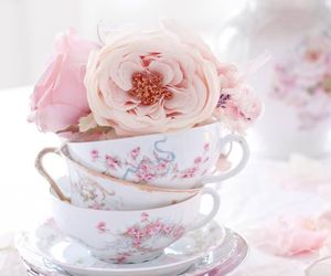 beautiful, shabby chic, and cup image
