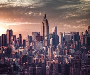 city, new york, and skyline image