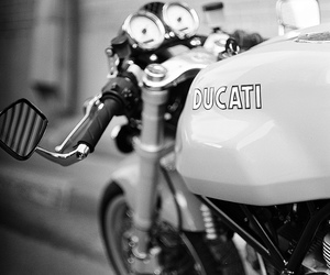 black&white, 80mm, and ducati image