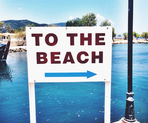 beach, Greece, and sign image