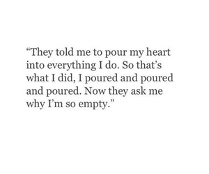 quotes, empty, and heart image