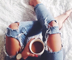 jeans and coffee image
