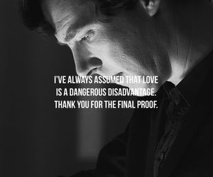 sherlock, love, and quote image