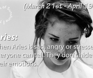 april, aries, and astrology image