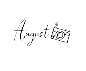 August, heart, and hello image