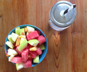 breakfast, fit, and fruit bowl image