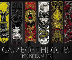got, game of thrones, and house image