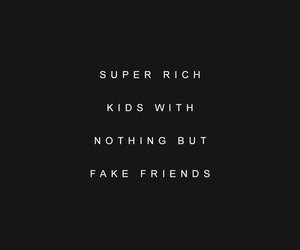 fuck off, rich, and money talks image