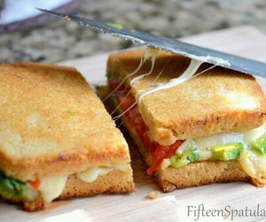 food, sandwich, and toast image