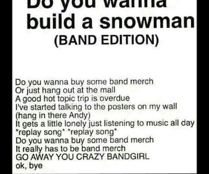band, frozen, and fangirl image