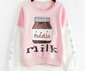 nutella, pink, and milk image
