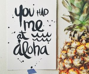 Aloha, summer, and quote image