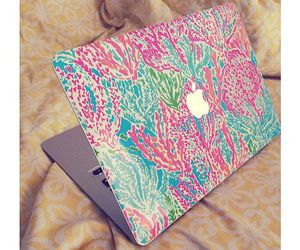 apple, laptop, and preppy image