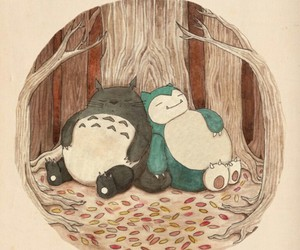 totoro, pokemon, and snorlax image