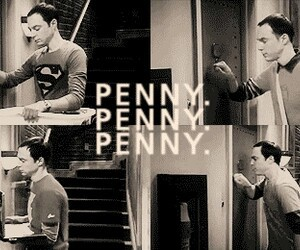 penny, sheldon, and the big bang theory image