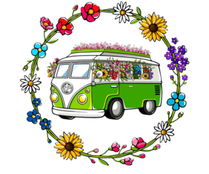 flower, hippie, and peace image