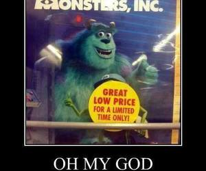 funny, lol, and monsters inc image