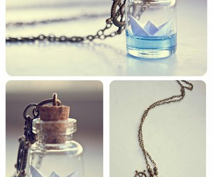 beautiful, blue, and necklace image