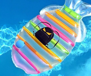 bag, pool, and summer image