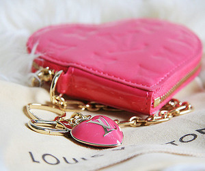 pink, Louis Vuitton, and heart image