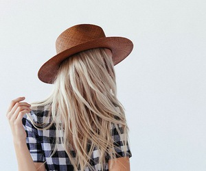 girl, hat, and blonde image
