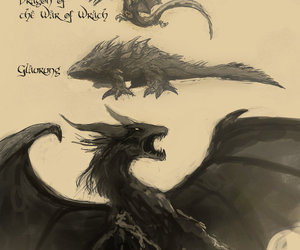 dragon, LOTR, and middle earth image