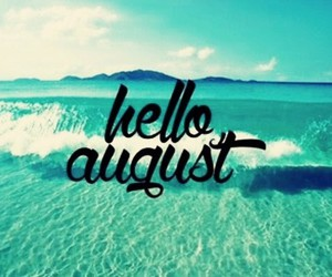 August, summer, and sea image