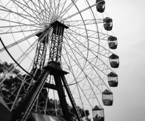black and white, photography, and carnival image