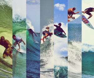 surfboard, surfer, and surfing image