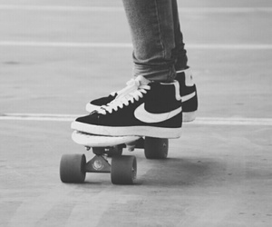 skate, nike, and love image