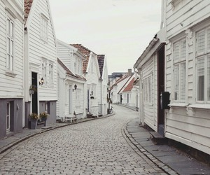black&white, city, and Houses image