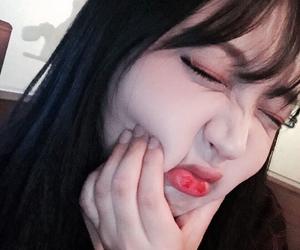 cheek, girl, and korea image