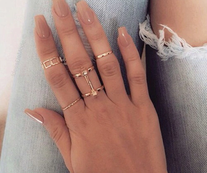 beautiful, jeans, and rings image