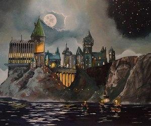 hogwarts, harry potter, and book image