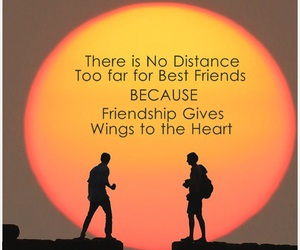 distance, heart, and friendship image